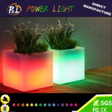 Color-Changing Garden Decor LED Plastic Square Flower Pot