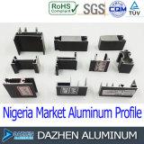 Venda de alumínio da fábrica do perfil da estrutura 6063 do indicador da porta