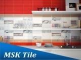 mattonelle di ceramica rosse interne lucide della parete della glassa di 100X300mm