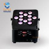 La IGUALDAD ULTRAVIOLETA aprobada Ce Hex de la batería LED de la alta calidad 12*18W 6in1 Rgbaw WiFi de Rasha puede para el partido del acontecimiento de la etapa con Powercon