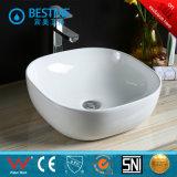 新しいモデルの楕円形の形の陶磁器のカウンタートップの芸術の洗面器