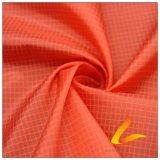 agua de 50d 280t y de la manera de la chaqueta tela catiónica tejida chaqueta Viento-Resistente claramente 100% del filamento del hilado del poliester abajo (X068H)