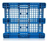 plateau en plastique de palette de HDPE de 1300*1100*155mm 4 de la voie 1t de crémaillère de palette lourde en plastique de charge avec 3 turbines