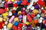 ベーキングマフィンのための多彩で健全で使い捨て可能なリサイクルのケーキの金属の箱