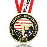 주문 미국 아연 합금 금 연약한 사기질 Taekwondo 스포츠 메달