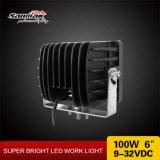 """Haz de inundación 100W 6"""" de la luz de LED de trabajo para uso intensivo"""