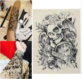 Привидение Rose часов черепа делает по образцу водоустойчивый временно стикер Tattoo