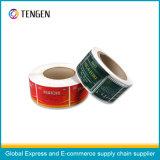 Impression personnalisée Étiquette d'étiquette OEM