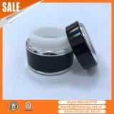 surtidor de aluminio de cristal negro del tarro de 7g 15g 30g 50g para la crema de noche