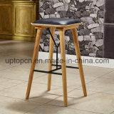 Для отдыхающих Ash цельной древесины бар стул с обивкой из кожи PU (SP-ЭЙЧБИСИ248)