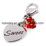 Vente en gros Custom Logo Stamped Metal Tag Charms