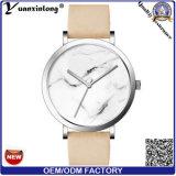 Yxl-072 de mármol de la moda de cuero cara Watch Venta caliente Mens relojes de cuarzo de promoción de los hombres resistente al agua reloj de pulsera relojes de dama de OEM