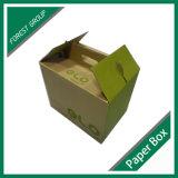 Пользовательский цвет дизайн картонную коробку с ручкой