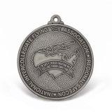 Mémoire d'argent bon marché personnalisé antique de vieux souvenirs de l'émail de la Médaille de l'époxy