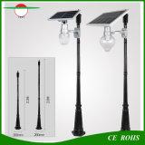 Hot Sale Preço barato 6W Tudo em uma luz solar de rua Light Peach Apple Shape Garden Street Light com poste de lâmpada Opcional