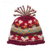Sombrero hecho punto POM de la gorrita tejida del sombrero del sombrero POM del Knit del sombrero de la gorrita tejida del telar jacquar