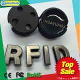 13.56MHz etiqueta del gusano de la etiqueta RFID del cubo de la basura de los BDE EM4305 RFID