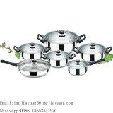 Insieme del Cookware dell'acciaio inossidabile di 12 PCS