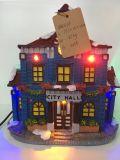 Maison de Noël de nouvelle résine de produits avec éclairage LED à vendre