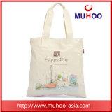 Personalizado promocional lienzo bolso bolso bolso de deporte de algodón para la playa