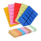 Nuevo producto certificado FDA Material de calidad alimentaria Pastel de silicona, molde de silicona con forma de bloques de molde de tarta