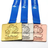 Medalla modificada para requisitos particulares de la concesión del deporte del levantamiento de pesas del metal con la cinta