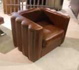 Sofá de couro clássico, sofá de couro genuíno Yh-143