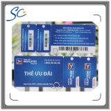 Cartão da impressão térmica ou da identificação do código de barras do Dod