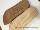 Hölzerne Korn EVA-Einlegesohle gebildet durch kalte Presse-Form
