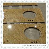 Bancada dourada amarela bege chinesa do granito para a cozinha e o banheiro