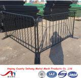 Cerca temporal galvanizada de la barricada/barrera cantada del control para la venta del surtidor de China