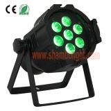 Mini LED PAR 7pcs 10W 4-en-1 avec LED RGBW Étape Effet d'éclairage