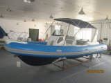 Liya 24.6FT 16persons motoriseerde de Opblaasbare Varende Boot van de Rib Hypalon (HYP750)