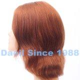 Parrucca europea di Short dei capelli con la parte superiore legata mano