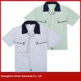 Fornecedor barato das camisas dos vestuários do desgaste do funcionamento do Tc do poliéster do algodão na fábrica de Guangzhou (W158)