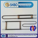 China Fabricación U tipo elementos calefactores de disílice de molibdeno