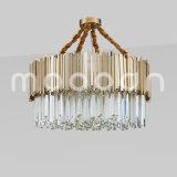 Lustre de cristal de luxo moderno Artístico simples para sala de estar