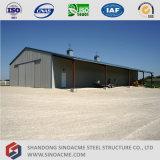 Edifício de estrutura de aço pré-fabricado de baixo custo