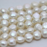 Nugget Baroque 11-12mm AAA Biwa Pearl Beads brins (E190040)