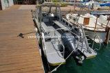 El aluminio barco de buceo con cabina