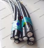 cabo empacotado aéreo padrão de 1*25mm2+54.6mm2 Nfc 33209 para o cabo de fio elétrico aéreo