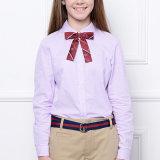 Uniforme scolaire, chemise rose unisexe d'école de coton de mode