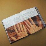 Livre enveloppé par tissu d'impression d'impression de livre de livre À couverture dure