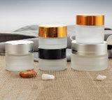 Tarro exquisito del vidrio helado para la crema (NBG1518)