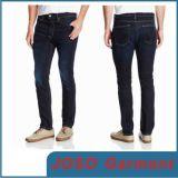 Escuro - calças de brim magros azuis da sarja de Nimes do pé (JC3048)