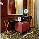 Meubilair het van uitstekende kwaliteit van het Ontwerp van het Tweepersoonsbed van het Hotel in de Stoffering van de Stof
