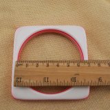 Weiße rosafarbene quadratische neue Form-Armband-Armband-Form-acrylsauerschmucksachen
