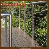 Trilhos baratos do cabo do aço inoxidável do SUS 304 para o Decking/terraço/balcão/Baluster (SJ-S060)