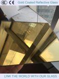 El vidrio decorativo con el oro 24K cubrió