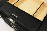 Случай ювелирных изделий кожи большой емкости верхнего сегмента черный